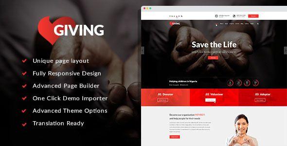 Giving – NGO/Charity/Fundraising WordPress Theme – Charity WordPress ...