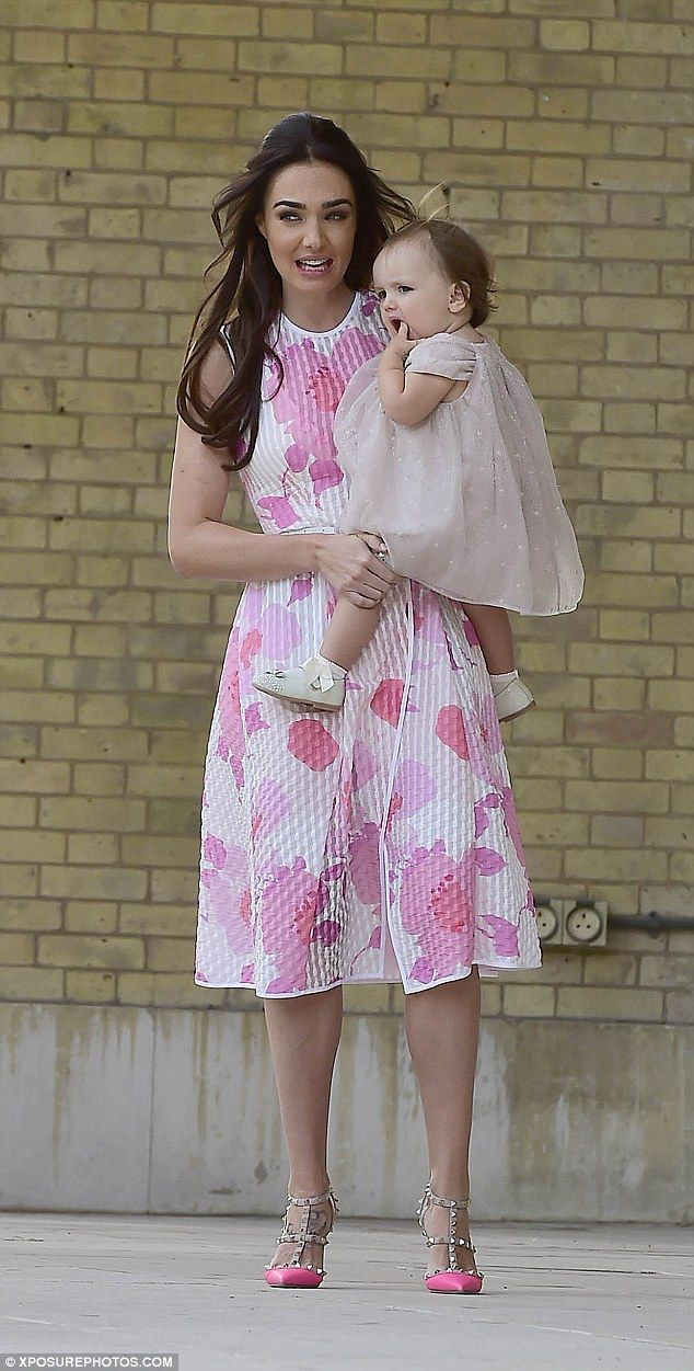 Tamara ecclestone leather pants tamara ecclestone leather dress tamara - Pretty In Pink Tamara Ecclestone Donned An Elegant Floral Dress To Attend Her Twin Nephews