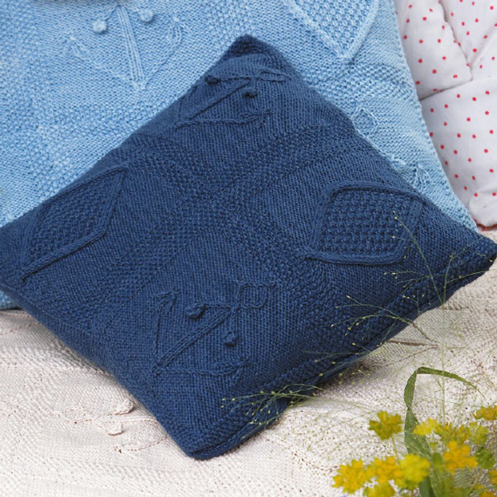 Cosy up with these nautical knitted cushions knitted cushion cosy up with these nautical knitted cushions bankloansurffo Choice Image