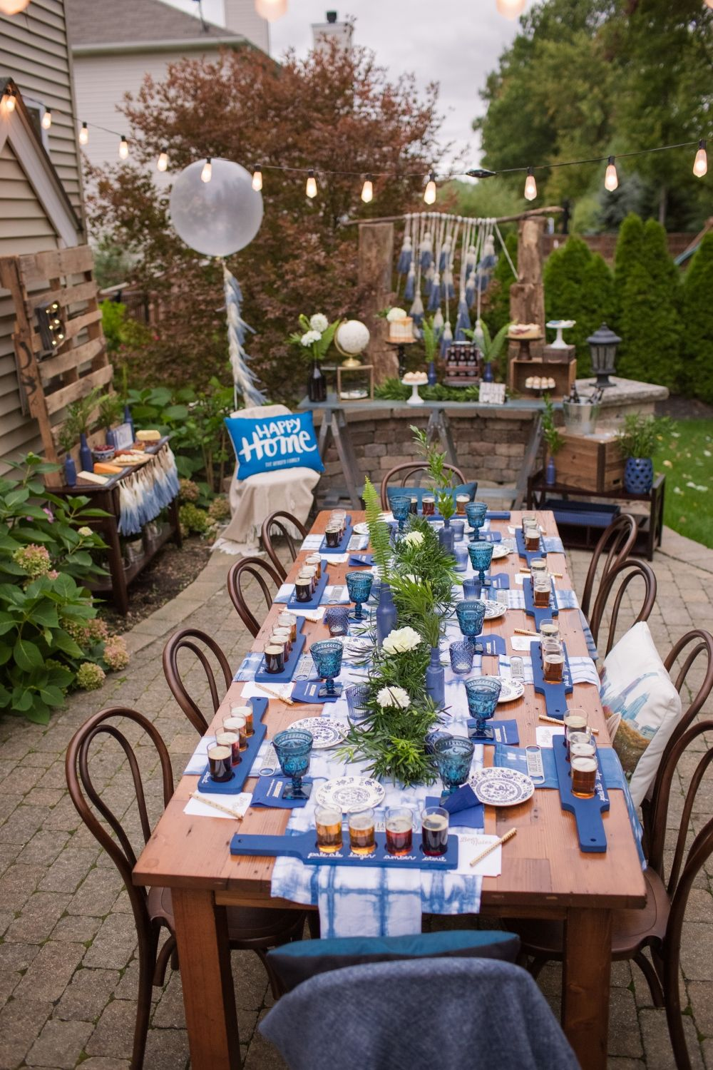 This housewarming party is an absolutely delight! Masculine and while still  being pretty. It