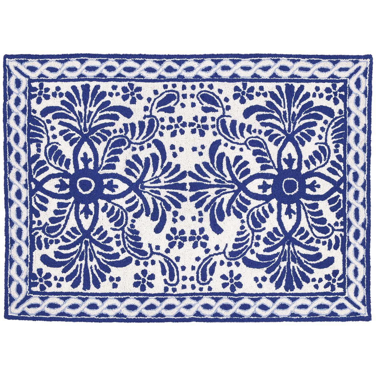 indoor rugs spanish tile rug blue