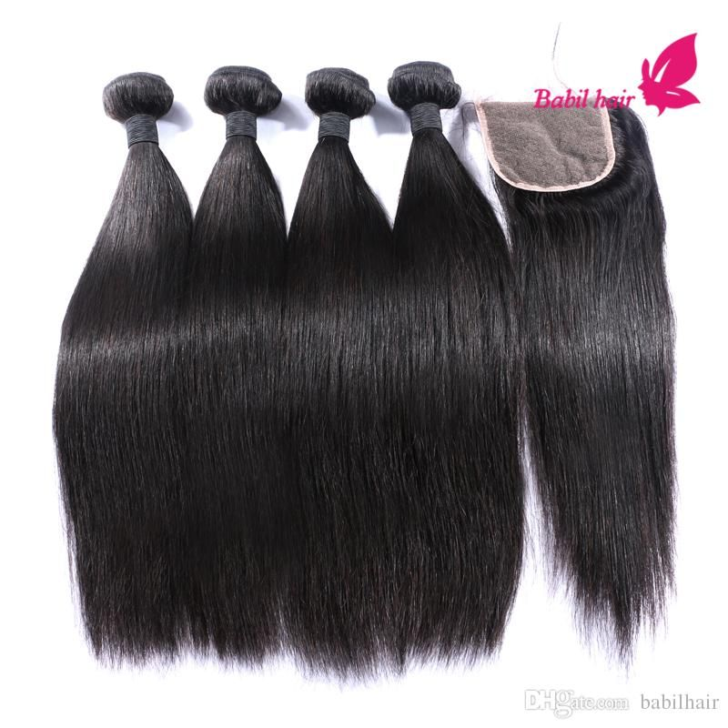 Brazilian Hair Bundles With Lace Closures 100% Human Hair Grade 7a Unprocessed Virgin Hair With Parting Lace Closure From Babilhair, $161.36 | Dhgate.Com