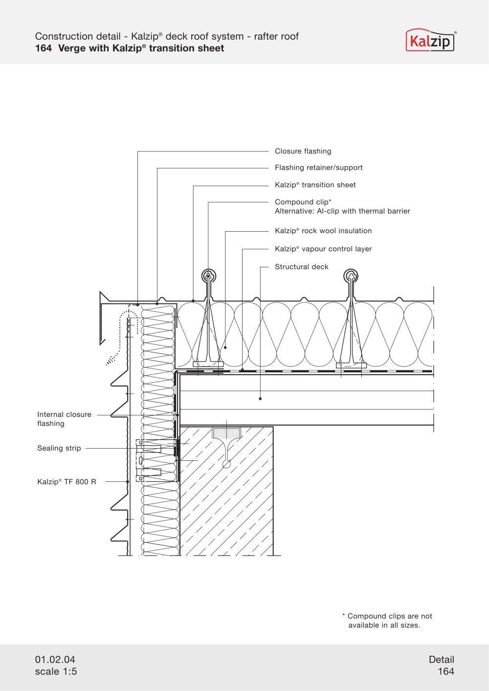 Kalzip Construction Details Archiexpo Roof Detail Architecture Details Construction
