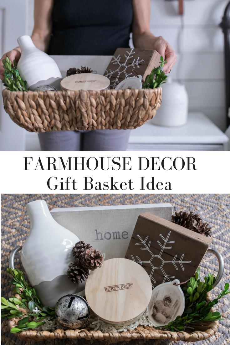 Farmhouse Style Christmas Gift Basket Idea Gift Guide Affordable Christmas Gifts Christmas Gift Baskets Diy Holiday Gifts