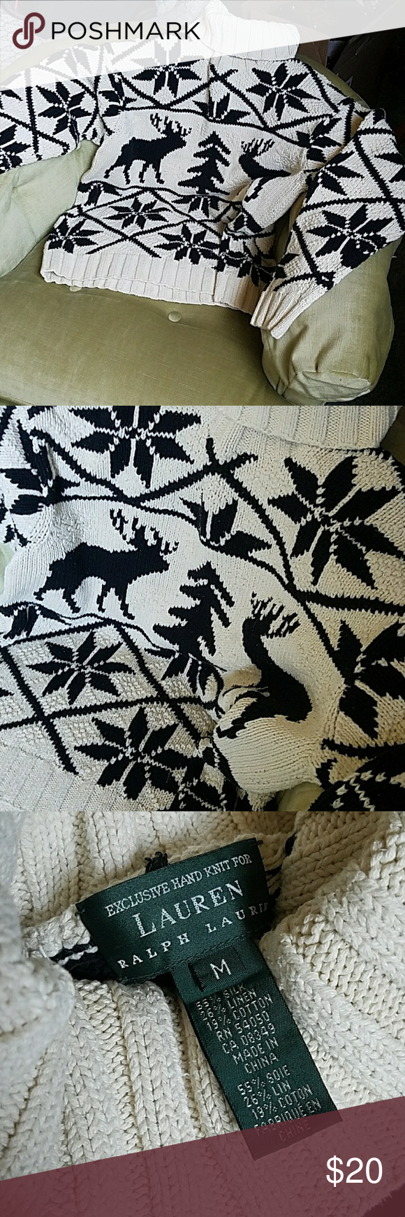 Cotton handknit Turtleneck Sweater Cotton knit Lauren Ralph Lauren Sweaters Cowl & Turtlenecks