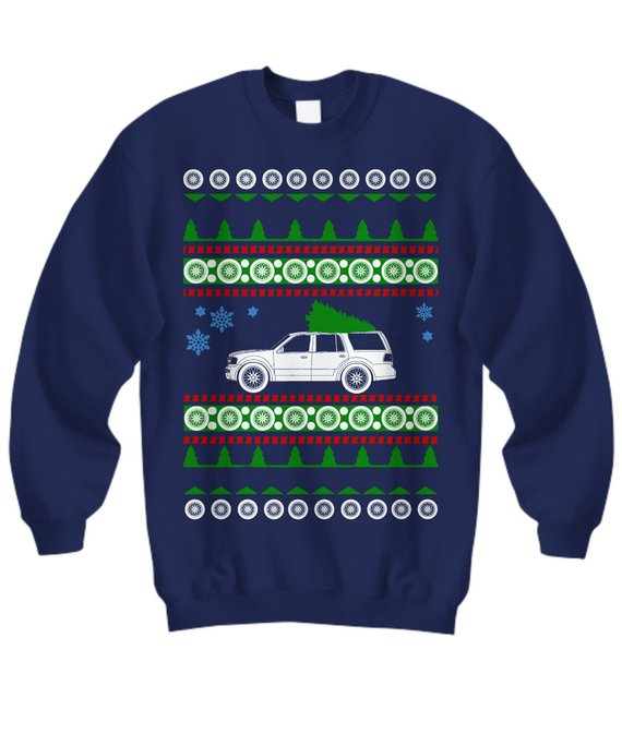 Lincoln Navigator Suv Ugly Christmas Sweater Holiday Luxury Ford