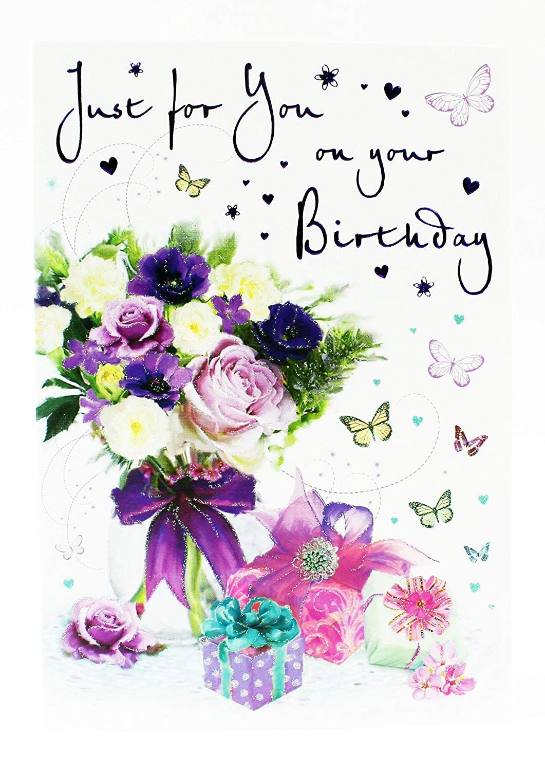 Just For You Birthday Greeting Card Ladies Hallmark Verse Flowers Luxury Adults Amazon Co Birthday Greetings Birthday Greeting Cards Happy Birthday Greetings