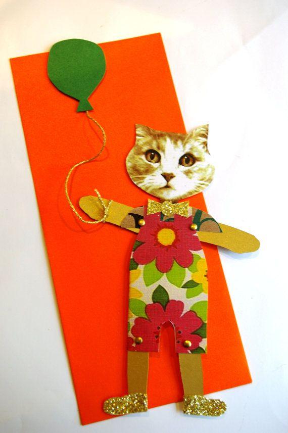 Cat Paper Doll, via Etsy.