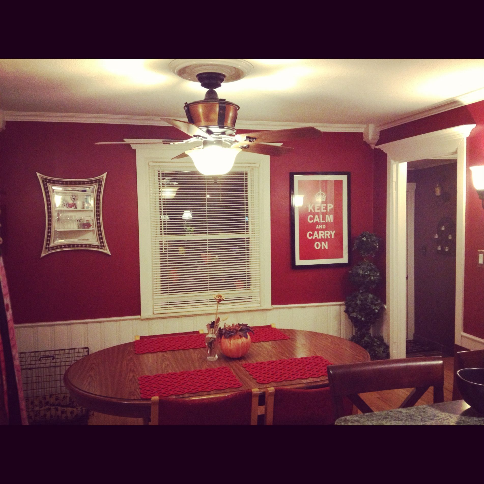 red dining room. color is behr's red red wine | home decor