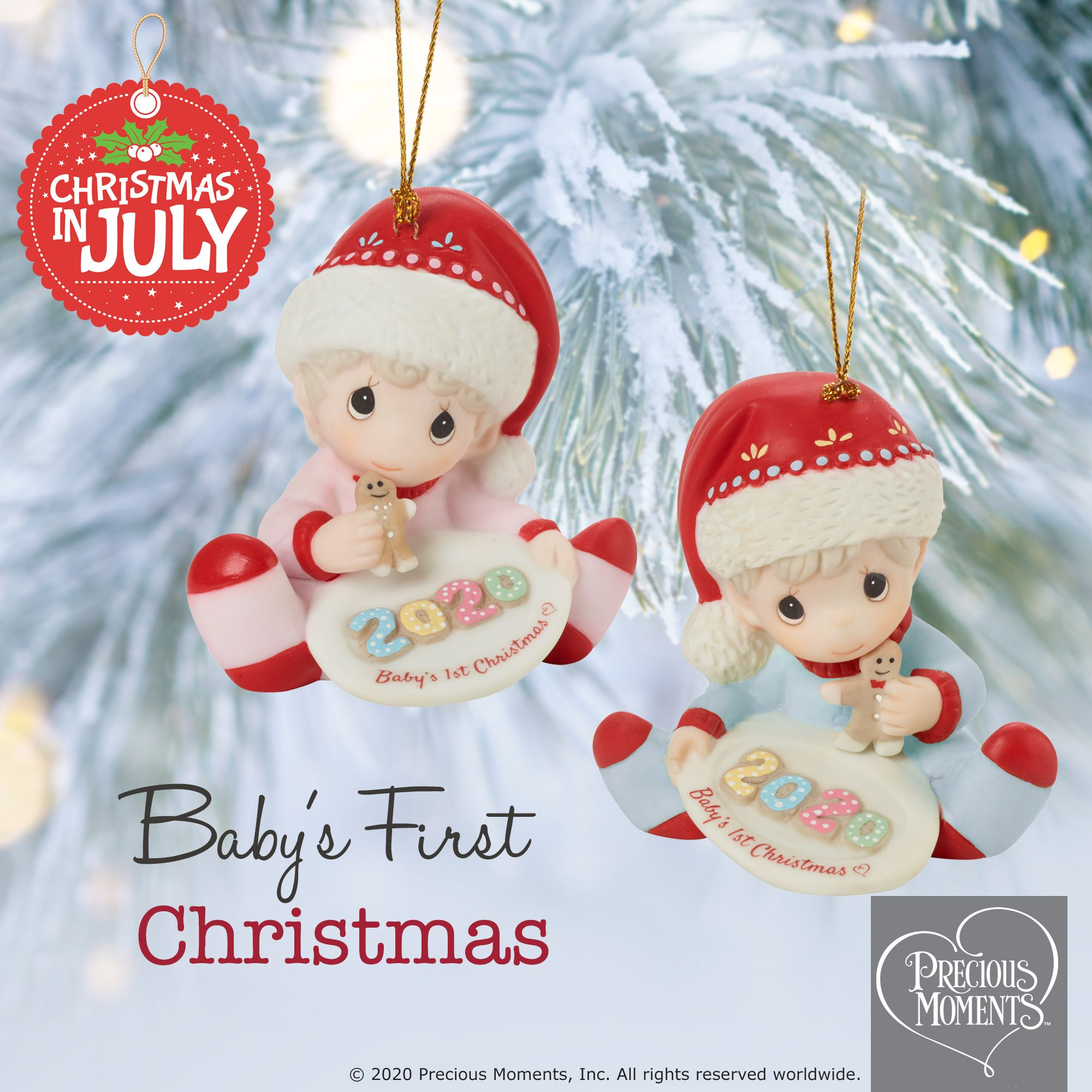 Precious Moments 2020 Christmas Ornaments Babys First Baby's 1st Christmas 2020 Dated Girl Ornament in 2020 | Thoughtful