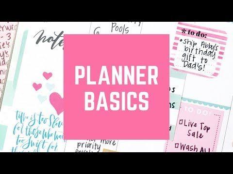 Planner Newbie Advice - YouTube Organizing Pinterest Planners