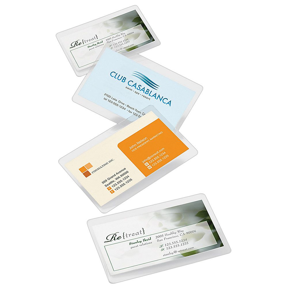 Office Depot Brand Laminating Pouches Business Card Size 5 Mil 256 X 375 Pack Of 25 By Office Depot Business Card Template Card Template Business Card Size