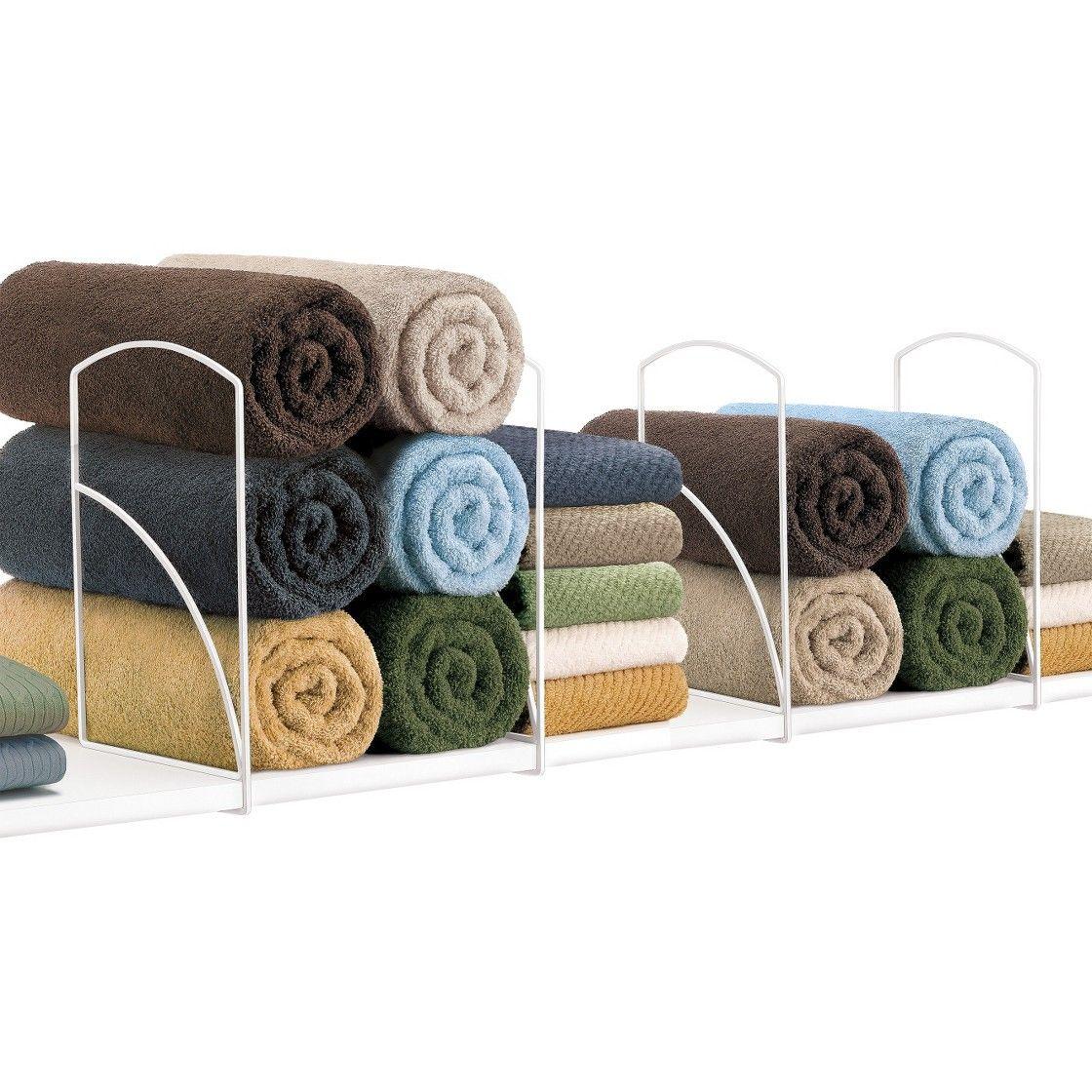 Lynk Tall Steel Shelf Dividers White (Set of 4) Shelf
