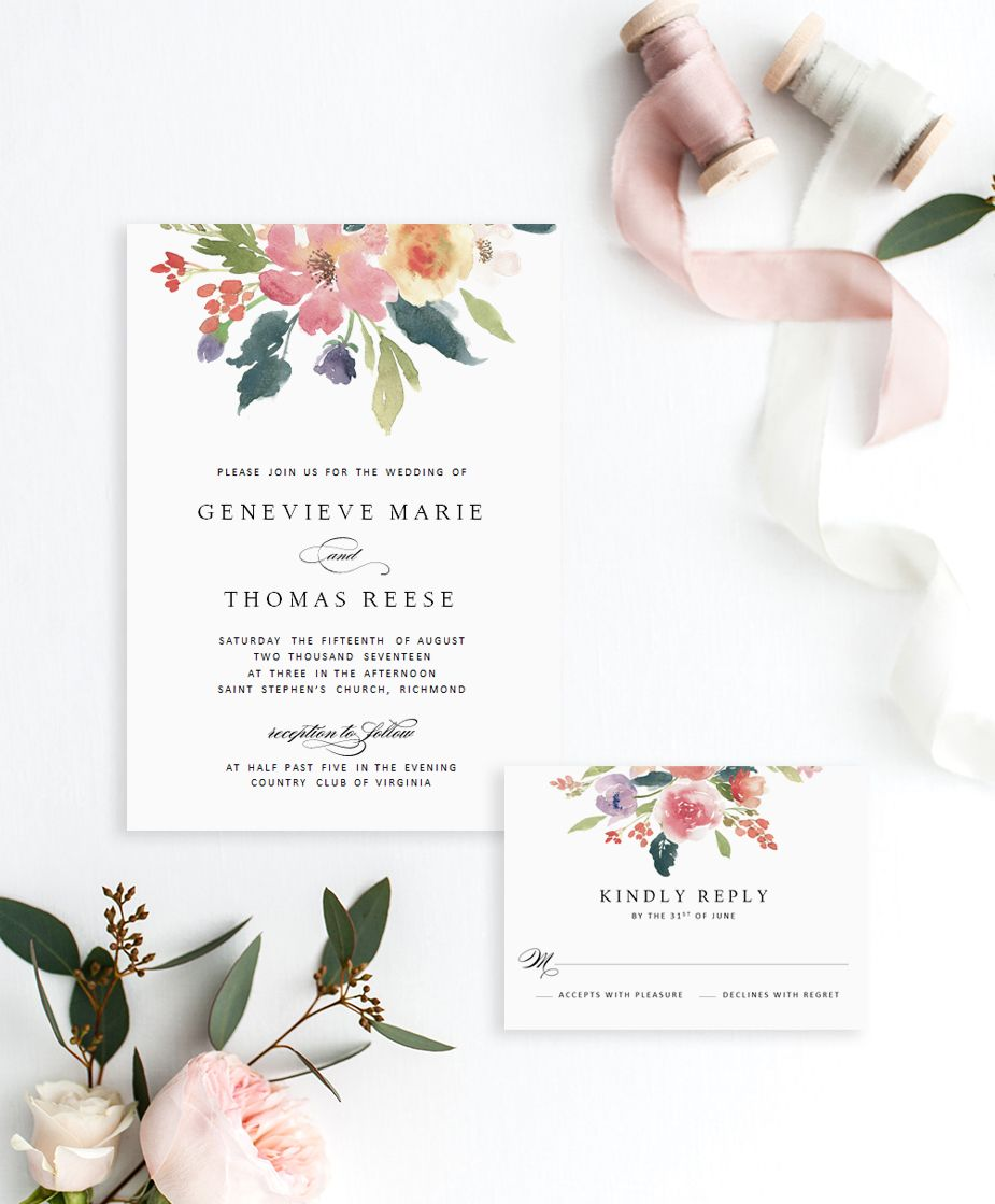 Wedding Invitations Wedding Invitation Template Rustic