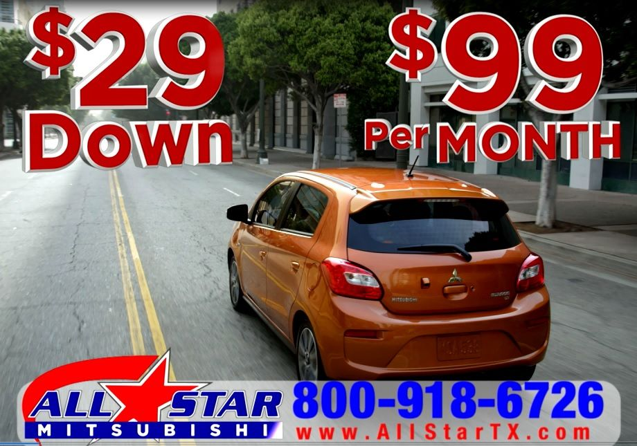 All Star Mitsubishi Says It S Time For A Change Drive Away Today For Only 29 Get Your New Car Or Suv For Only 29 Down 99 Mitsubishi All Star New Cars