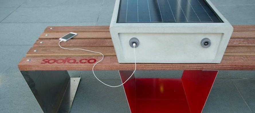 Le banc connect soofa pr curseur du mobilier urbain for Meuble urbain