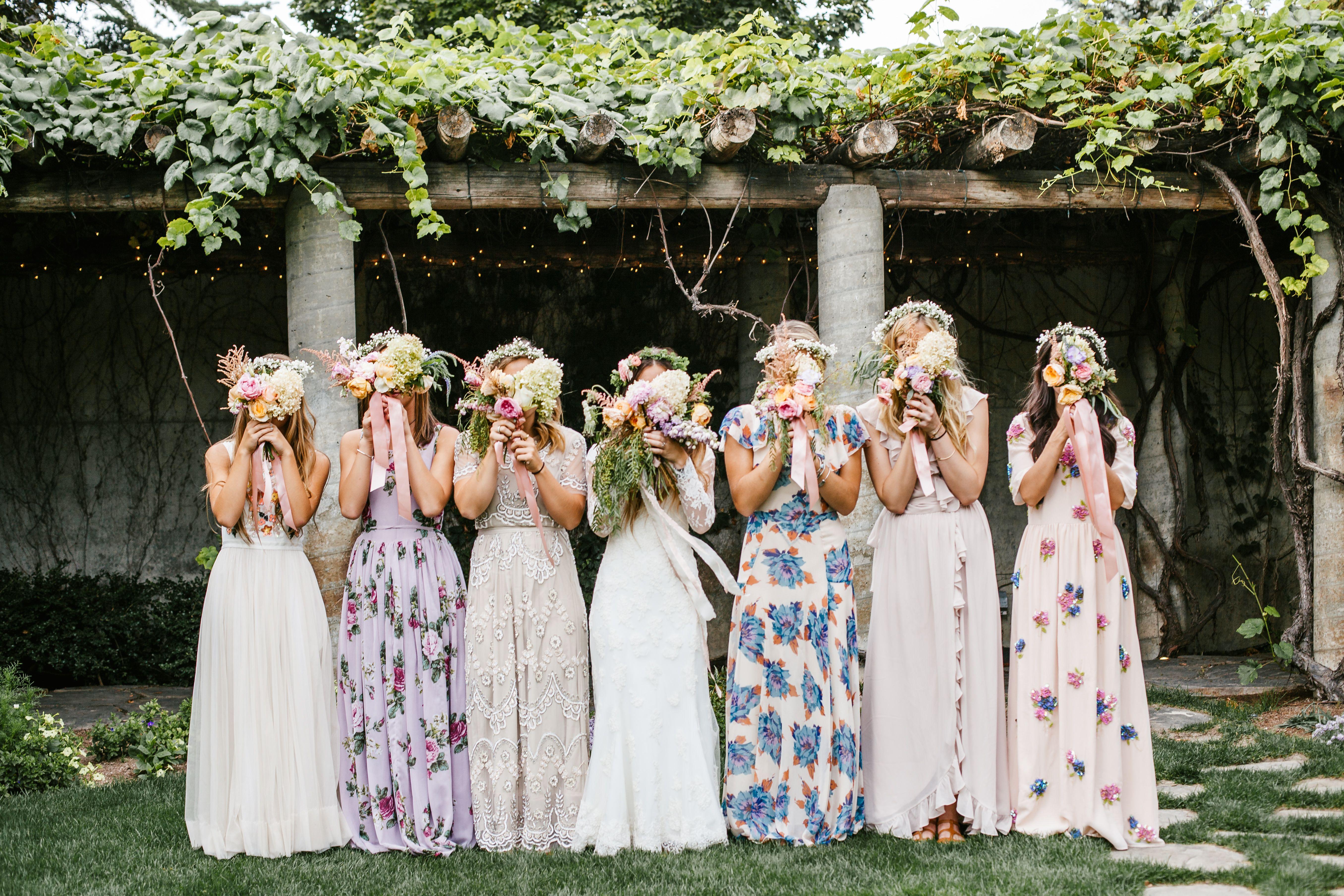 Bohemian Bride Bridesmaid Dresses Boho Bohemian Bridesmaid Patterned Bridesmaid Dresses