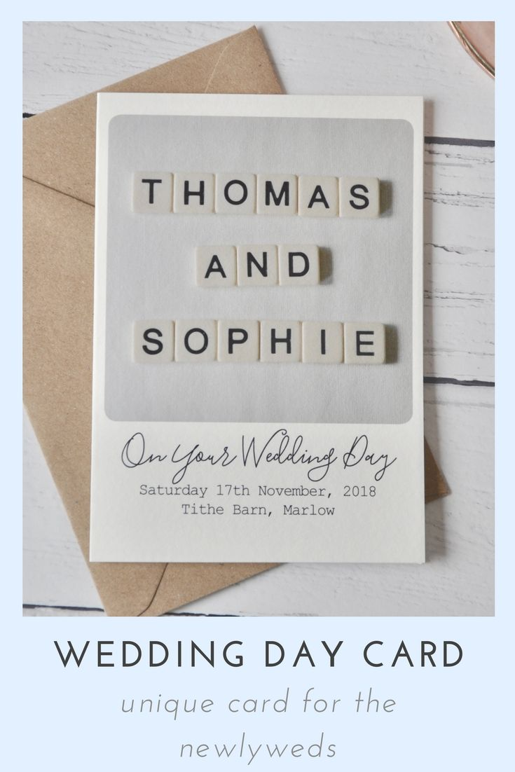 Wedding decorations with flowers november 2018 Wedding day card for the newlyweds Personalised scrabble wedding