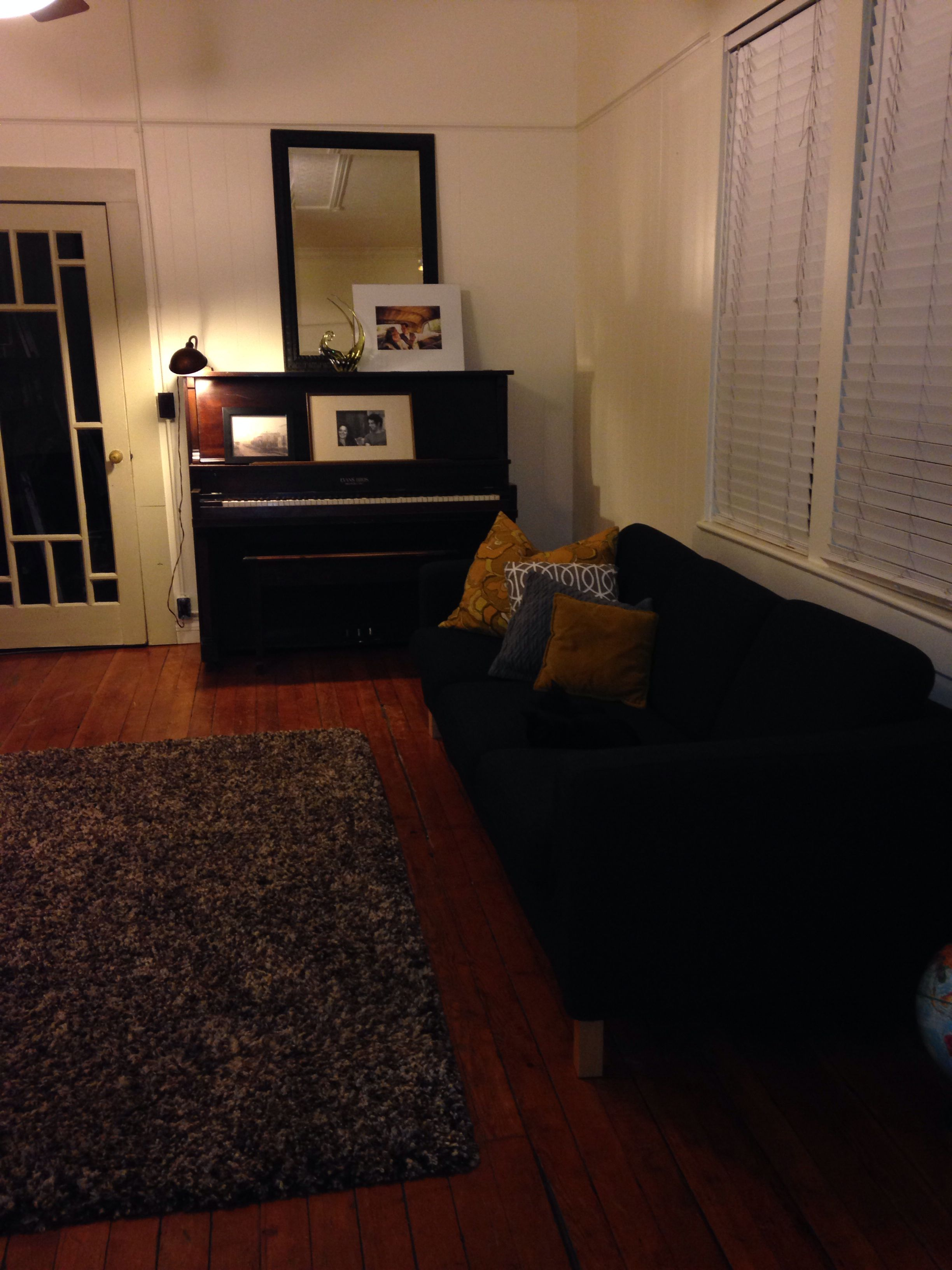 """The ikea karlanda sofa I want to """"hack"""" with some button tufting"""