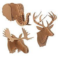 "Cardboard animal ""mounts"""
