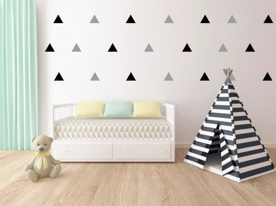 Mix Triangle Pattern Decor Wall Sticker Design Baby Room Decals Vinyl kids Bedroom