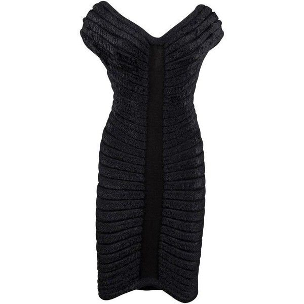 Preowned Alaïa Black Chenille-knitted Evening Gown, \'houpette\', C ...