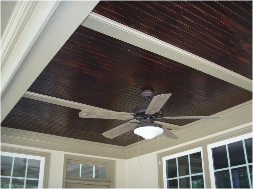 Lovely Stained Beadboard Porch Ceiling