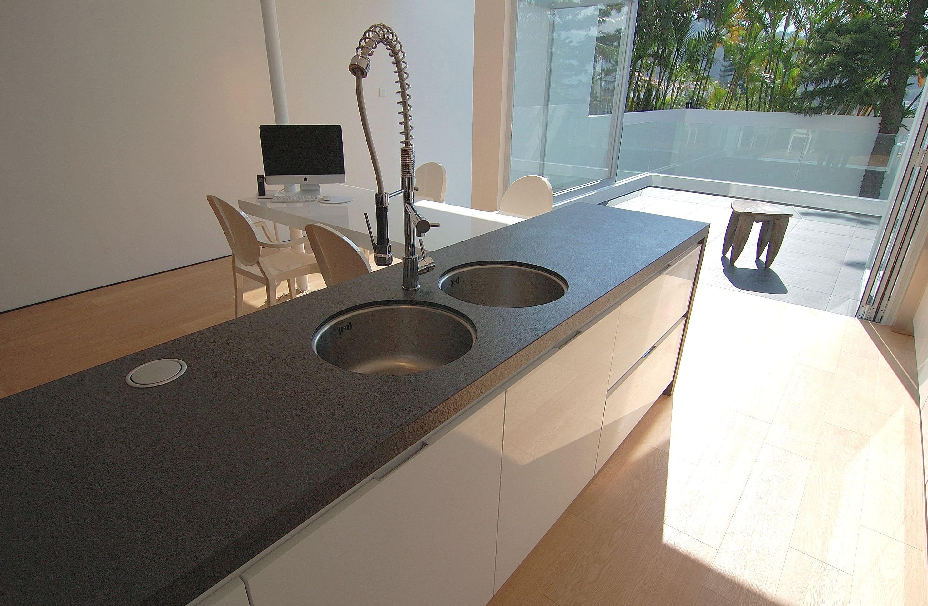 Technistone #Gobi Grey #sink | Kitchen sink could be a piece of art ...