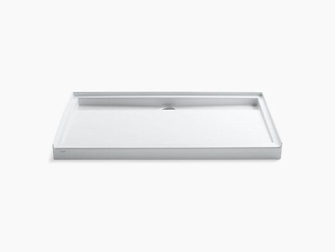 Groove 60 X 36 Single Threshold Rear Center Drain Shower Base
