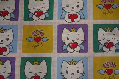 Hello Kitty Squares Fabric