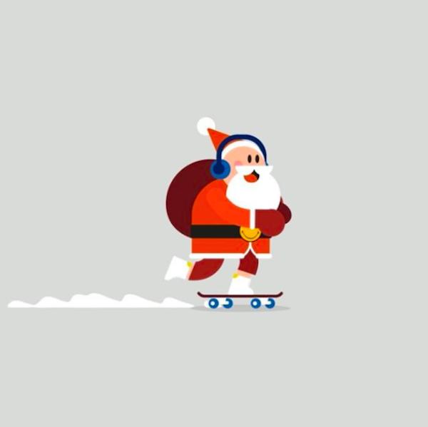 Illustrators Fun Christmas Themed Gifs Are Just What You Need This Holiday Merry Christmas Gif Christmas Gif Cute Gif