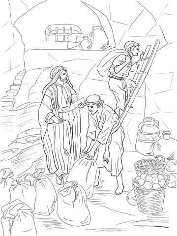 Kleurplaat Nehemia Prophet Malachi Storing Gifts In The Temple Coloring Page