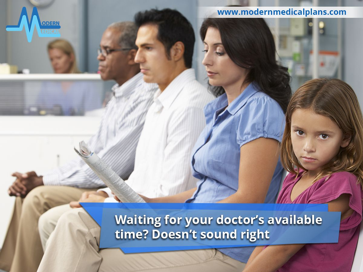 Waiting for your doctor's available time? Doesn't sound