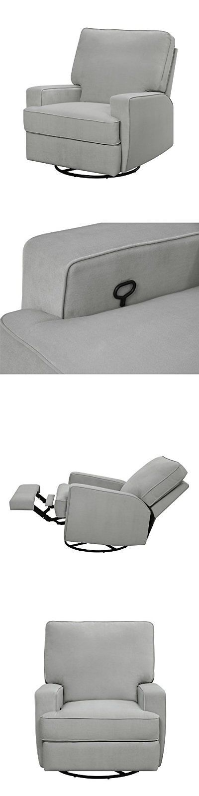 Baby Relax Rylan Swivel Gliding Recliner Gray Baby Supplies