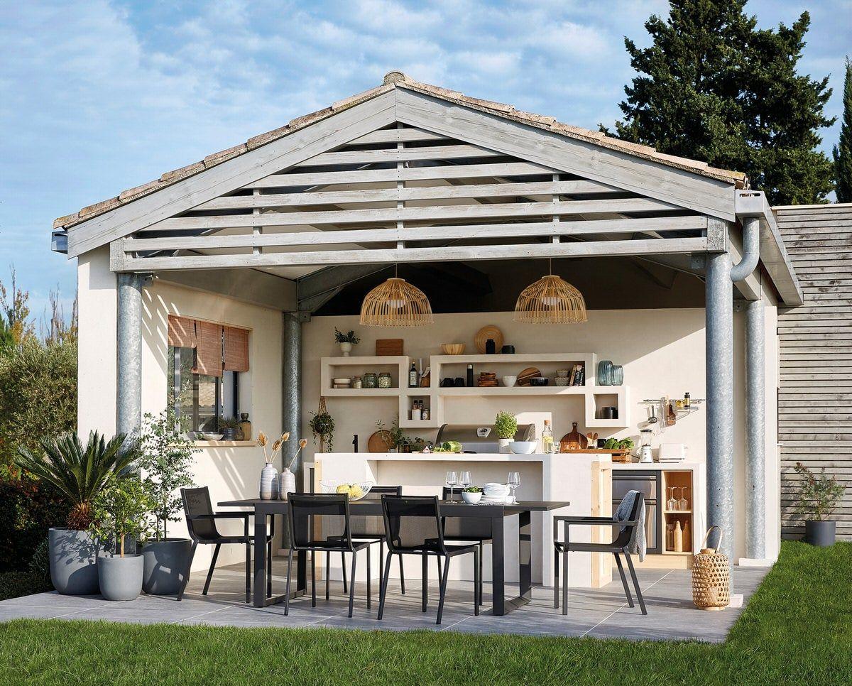 Une Vraie Cuisine Dehors Leroy Merlin Inspiration En 2020 Cuisine Exterieur Jardin Maison Deco Terrasse Exterieure