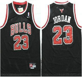 Chicago Bulls Jersey 23 Michael Jordan Black With With Name Swingman Jerseys 0ab5c4820