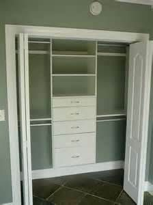 Closet Organization ~ I Like It..and I Prefer The Bi Fold Doors To The  Sliding Ones ~ UGH