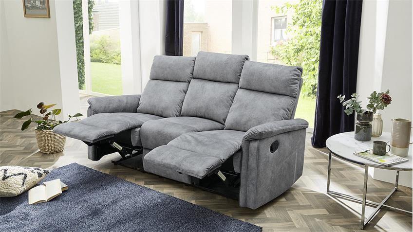 Sofa Amrum Sessel Relaxsessel 3 Sitzer Mit Funktion Vintage Grau 180 Sofa Wohnen Und Schoner Wohnen