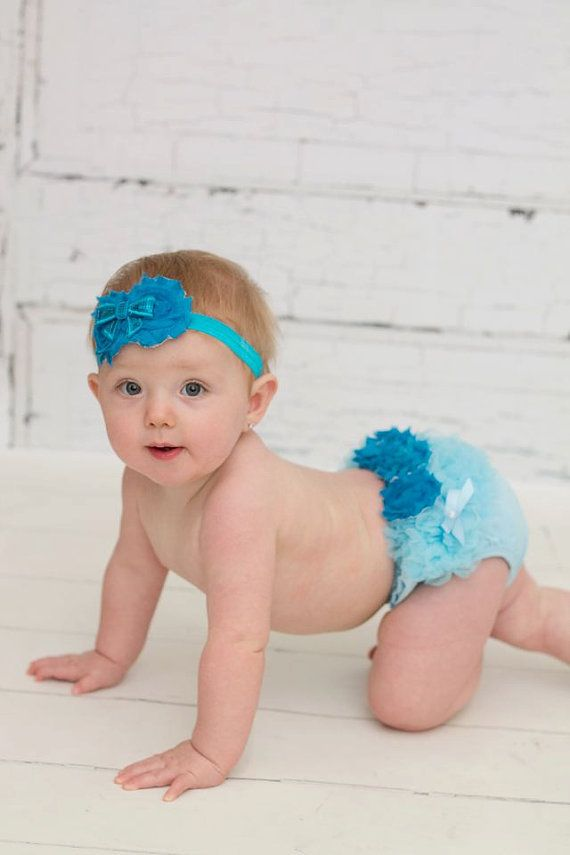 READY TO SHIP Blue Ruffled Bloomer and by TutullyCuteDesigns, $11.95