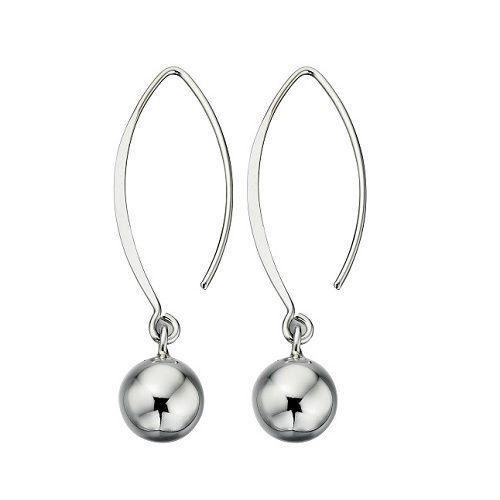 Ball Drop Sterling Silver Fish Hook Earrings Lovesilverlondon