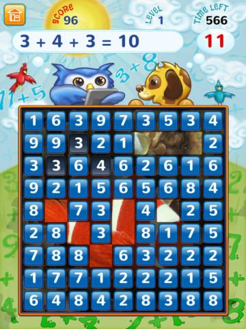 Addition Frenzy encourages your child to apply their number knowledge in this delightful game.