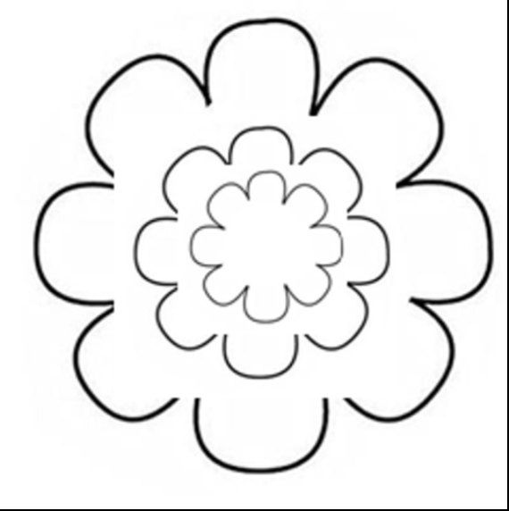 Flower Pattern Template  Sizes  Pedal Flower Instant Download
