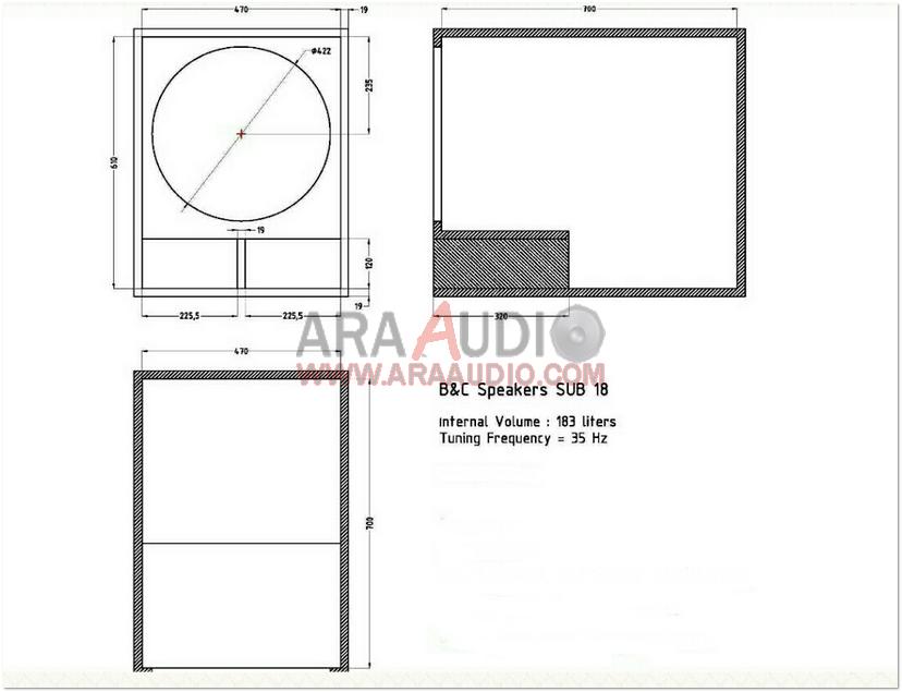 Skema Box Subwoofer B C 18 Inch Ara Audio Speaker Suara Audio