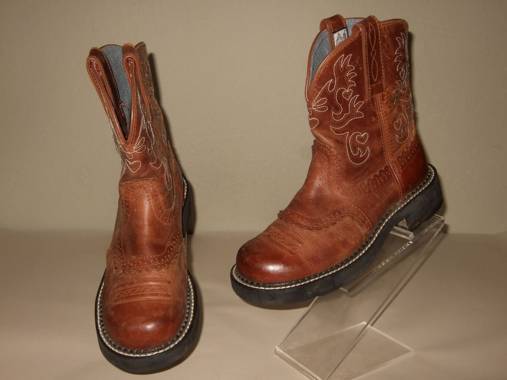 cd6180dd176 Ariat Fatbaby Brown Bomber Saddle Cowboy Western Boots Womens Sz.6.5 ...