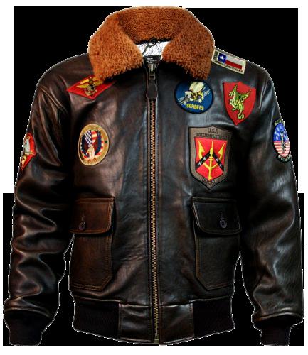 Brown MAVERICK BOMBER JACKET 53313.169 | Top Gun | Leren