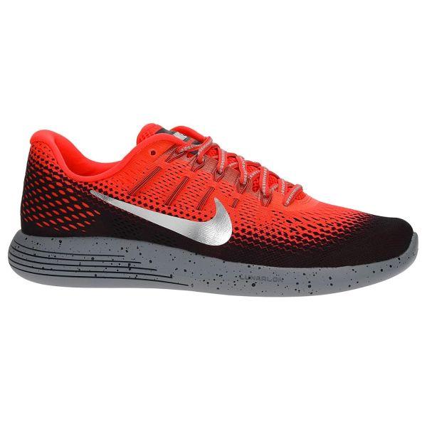 Nike LunarGlide 8 Shield Scarpe Running Uomo Fluo Red