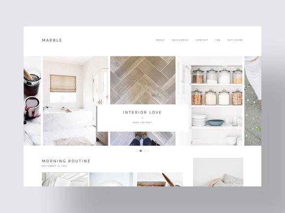 Responsive Minimal Wordpress Theme by Bloom Blog Shop on Creative ...