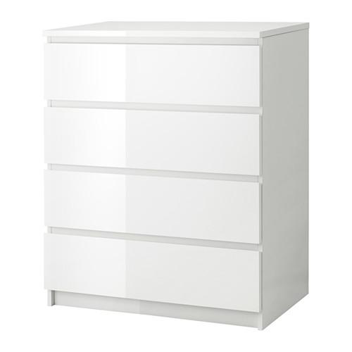 Erstaunlich MALM Kommode Mit 4 Schubladen   Weiß/Hochglanz   IKEA
