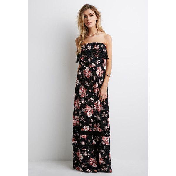 Forever 21 Women S Floral Print Crochet Maxi Dress Vintage Maxi Dress Crochet Maxi Dress Vintage Crochet Dresses