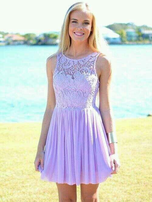 Super Qualität elegant und anmutig zuverlässiger Ruf Vestido Lila ! … | •°Dresses°• | Vestidos morados cortos ...